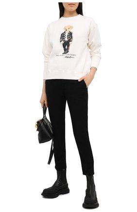 Женская хлопковый свитшот POLO RALPH LAUREN кремвого цвета, арт. 211814488 | Фото 2
