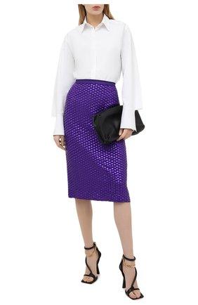 Женская юбка из вискозы DRIES VAN NOTEN фиолетового цвета, арт. 202-10806-1434 | Фото 2