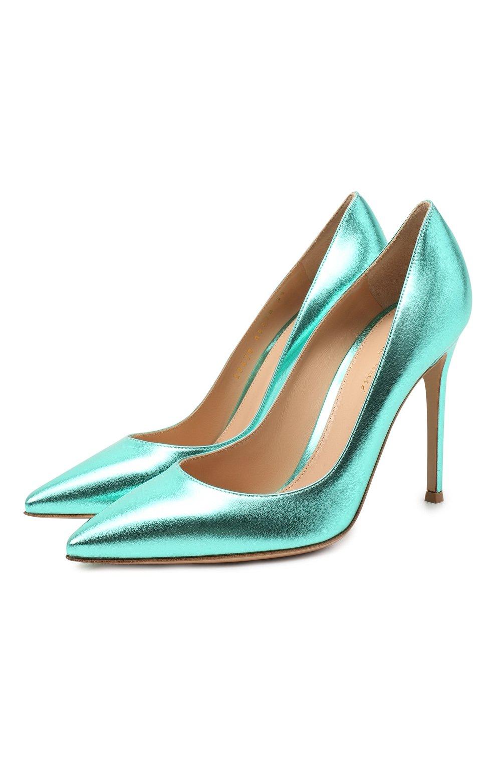 Женские кожаные туфли gianvito 105 GIANVITO ROSSI зеленого цвета, арт. G28470.15RIC.NPSACMA | Фото 1
