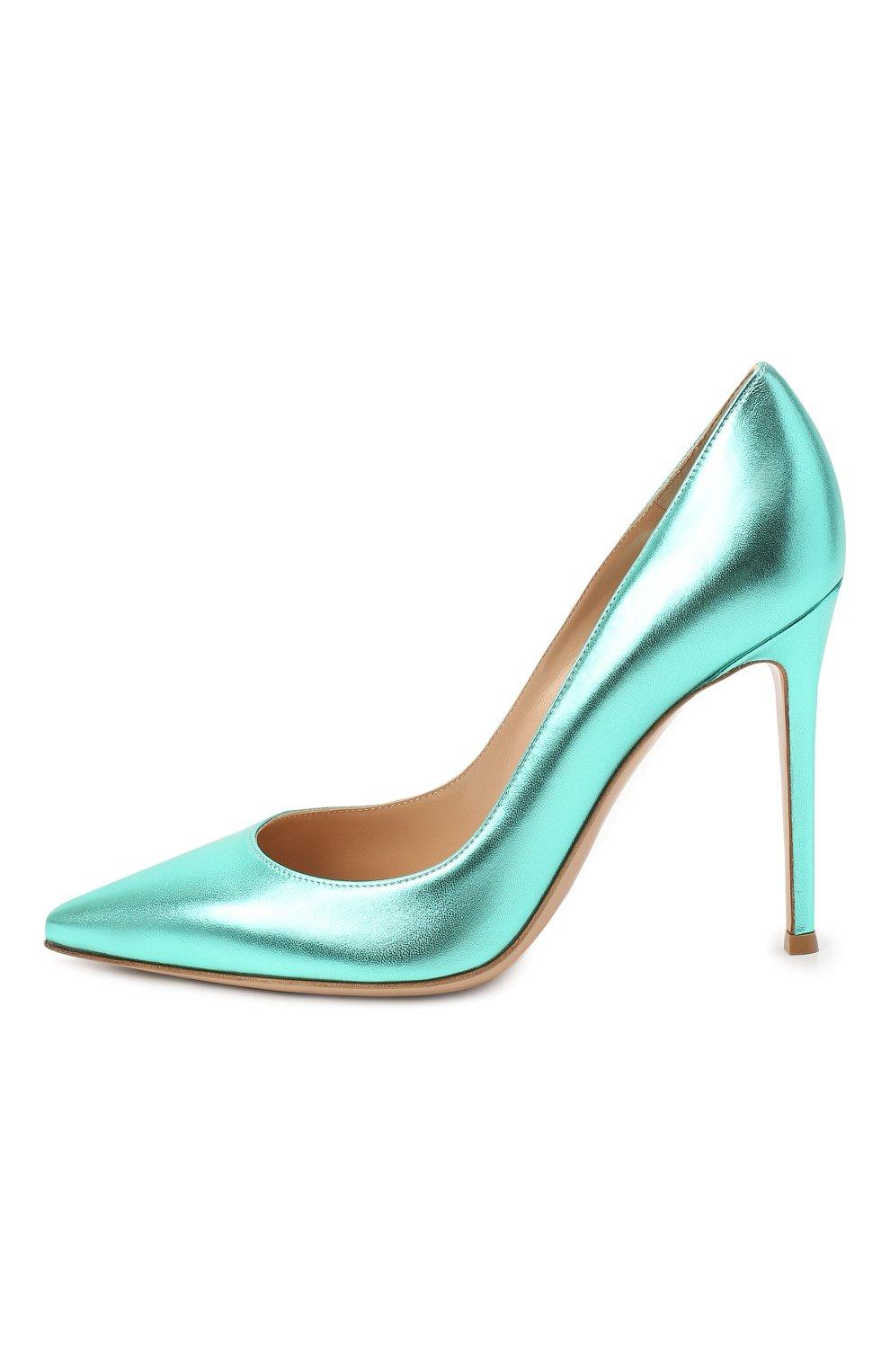 Женские кожаные туфли gianvito 105 GIANVITO ROSSI зеленого цвета, арт. G28470.15RIC.NPSACMA | Фото 4