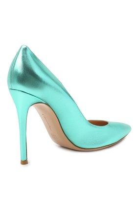 Женские кожаные туфли gianvito 105 GIANVITO ROSSI зеленого цвета, арт. G28470.15RIC.NPSACMA | Фото 5