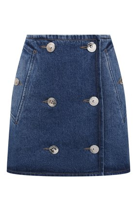 Женская джинсовая юбка BURBERRY темно-синего цвета, арт. 8033534 | Фото 1