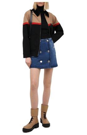 Женская джинсовая юбка BURBERRY темно-синего цвета, арт. 8033534 | Фото 2