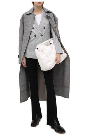Женский шерстяной жакет BRUNELLO CUCINELLI светло-серого цвета, арт. MB5918247 | Фото 2