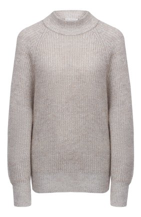 Женский пуловер BRUNELLO CUCINELLI светло-серого цвета, арт. M8M559014 | Фото 1