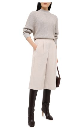 Женский пуловер BRUNELLO CUCINELLI светло-серого цвета, арт. M8M559014 | Фото 2