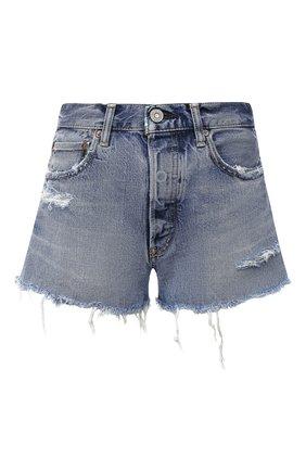 Женские джинсовые шорты MOUSSY голубого цвета, арт. 025DAC11-2350 | Фото 1
