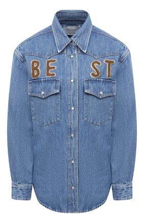 Женская джинсовая рубашка FORTE DEI MARMI COUTURE синего цвета, арт. 20WF8150 | Фото 1