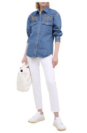 Женская джинсовая рубашка FORTE DEI MARMI COUTURE синего цвета, арт. 20WF8150 | Фото 2
