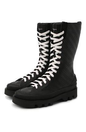 Женские кожаные ботинки GIVENCHY черного цвета, арт. BE602KE0S6 | Фото 1
