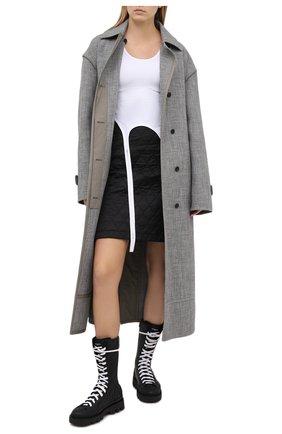 Женские кожаные ботинки GIVENCHY черного цвета, арт. BE602KE0S6 | Фото 2