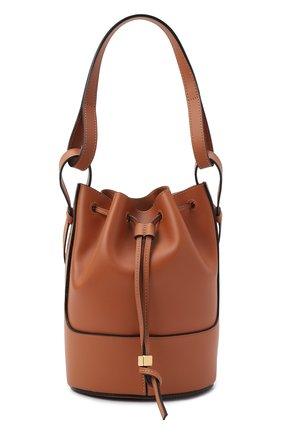Женская сумка balloon LOEWE светло-коричневого цвета, арт. A710C31X31 | Фото 1