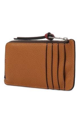 Женский кожаный футляр для кредитных карт LOEWE коричневого цвета, арт. C660Z40X04 | Фото 2