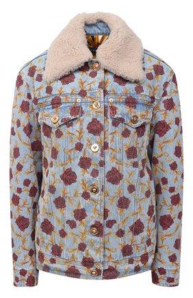 Женская джинсовая куртка VERSACE голубого цвета, арт. A87274/A235955   Фото 1