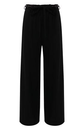 Женские шерстяные брюки Y`S черного цвета, арт. YR-P48-135   Фото 1