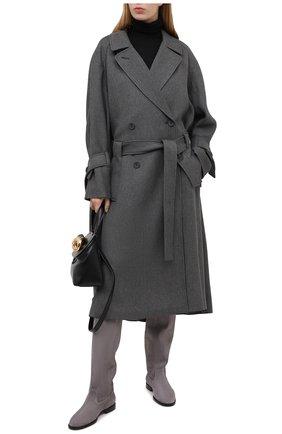 Женские замшевые сапоги bree JIMMY CHOO серого цвета, арт. BREE FLAT/SUE | Фото 2
