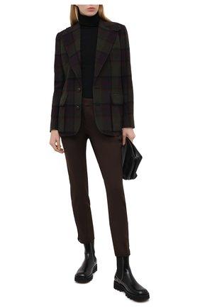 Женские брюки RALPH LAUREN коричневого цвета, арт. 290836347 | Фото 2