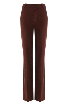 Женские хлопковые брюки LORO PIANA бордового цвета, арт. FAL4100   Фото 1