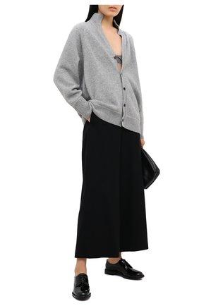 Женская кожаные оксфорды CHURCH'S черного цвета, арт. DE0009/9WD   Фото 2