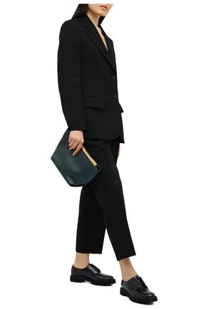 Женская кожаные дерби CHURCH'S синего цвета, арт. DE0206/9SN   Фото 2