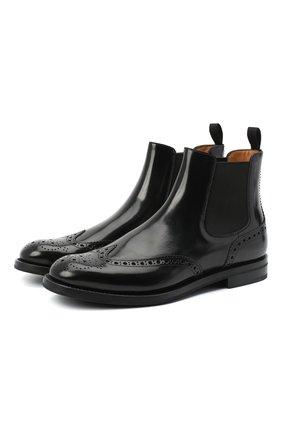 Женские кожаные ботинки CHURCH'S черного цвета, арт. DT0001/9XV | Фото 1