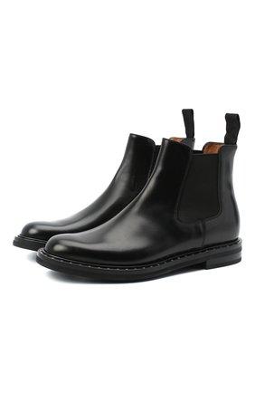 Женские кожаные ботинки CHURCH'S черного цвета, арт. DT0039/9SN | Фото 1