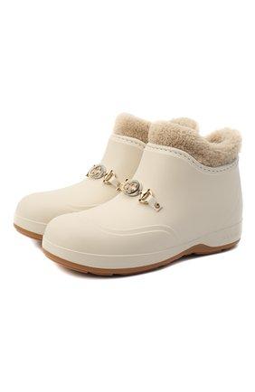 Женские ботинки GUCCI белого цвета, арт. 627890/JCC00 | Фото 1