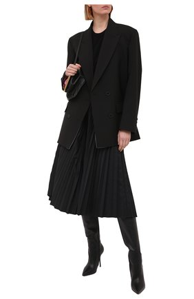 Женские кожаные сапоги DOLCE & GABBANA черного цвета, арт. CU0643/AW695 | Фото 2