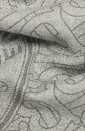 Мужские кашемировый шарф BURBERRY серого цвета, арт. 8033609 | Фото 2