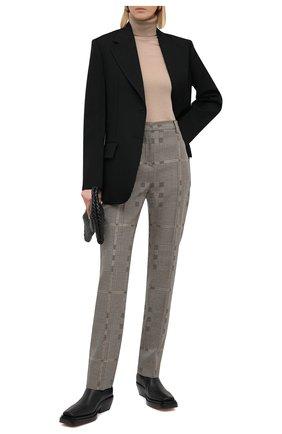 Женские шерстяные брюки BURBERRY разноцветного цвета, арт. 4566211 | Фото 2