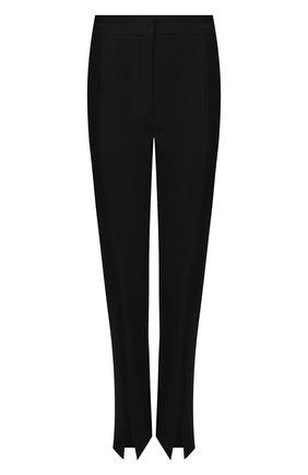 Женские шерстяные брюки BURBERRY черного цвета, арт. 4566191   Фото 1