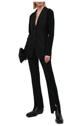 Женские шерстяные брюки BURBERRY черного цвета, арт. 4566191   Фото 2