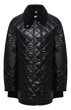 Женская куртка BURBERRY черного цвета, арт. 4566007 | Фото 1