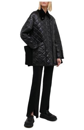 Женская куртка BURBERRY черного цвета, арт. 4566007 | Фото 2