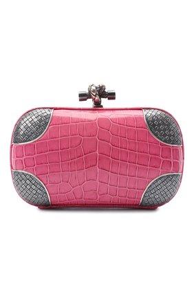 Женский клатч knot BOTTEGA VENETA розового цвета, арт. 113085/VBIB2 | Фото 1