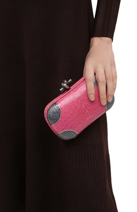 Женский клатч knot BOTTEGA VENETA розового цвета, арт. 113085/VBIB2 | Фото 2