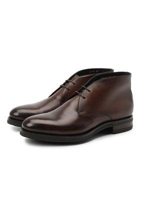 Мужские кожаные ботинки SANTONI коричневого цвета, арт. MC0S11764UL3ASEBM48 | Фото 1