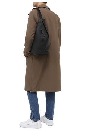 Мужской кожаный рюкзак LOEWE черного цвета, арт. B511A92X01   Фото 2