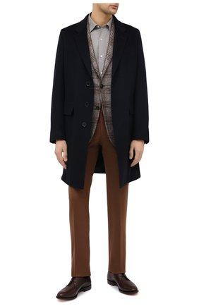 Мужские кашемировые брюки LORO PIANA коричневого цвета, арт. FAL4339 | Фото 2 (Случай: Формальный, Повседневный; Стили: Классический, Кэжуэл; Материал внешний: Кашемир)