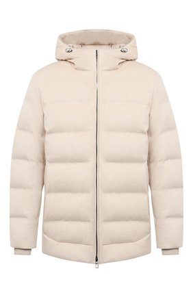 Мужская пуховая куртка LORO PIANA кремвого цвета, арт. FAL3492 | Фото 1