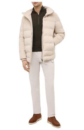 Мужская пуховая куртка LORO PIANA кремвого цвета, арт. FAL3492 | Фото 2