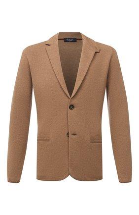 Мужской кашемировый пиджак LORO PIANA бежевого цвета, арт. FAL2351 | Фото 1