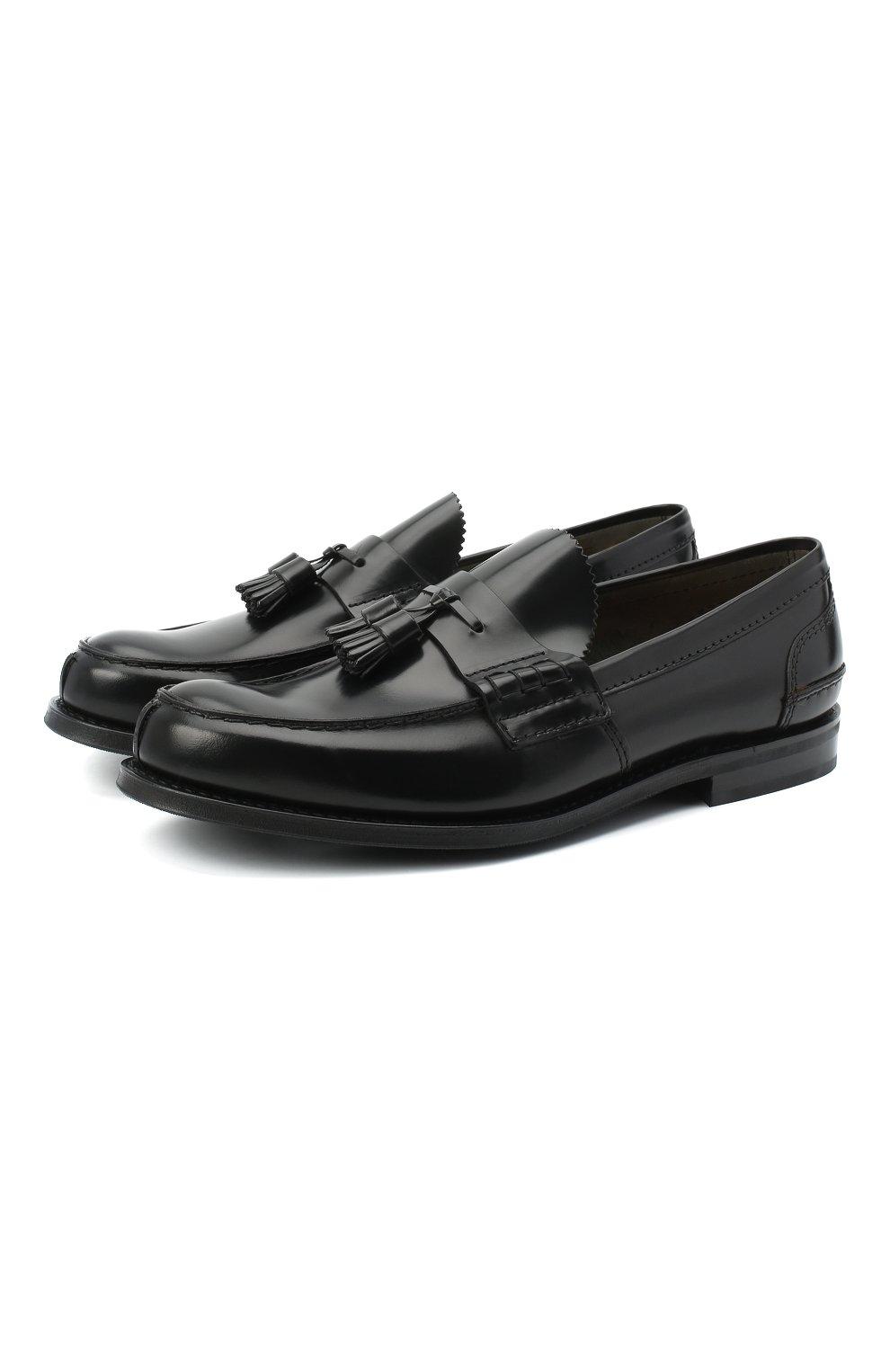 Мужские кожаные лоферы CHURCH'S черного цвета, арт. EDC058/9LG | Фото 1
