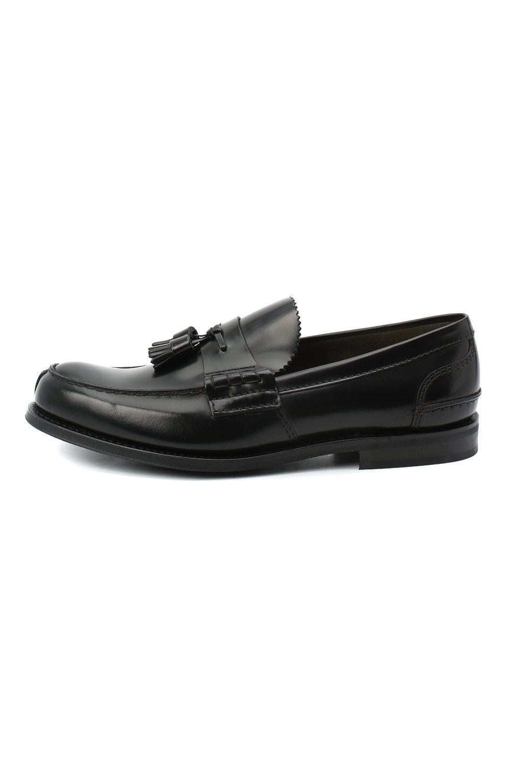 Мужские кожаные лоферы CHURCH'S черного цвета, арт. EDC058/9LG | Фото 3