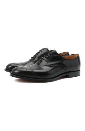 Мужские кожаные оксфорды CHURCH'S черного цвета, арт. EEB027/9EM | Фото 1