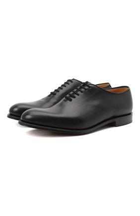 Мужские кожаные оксфорды CHURCH'S черного цвета, арт. EEB288/9AGX | Фото 1