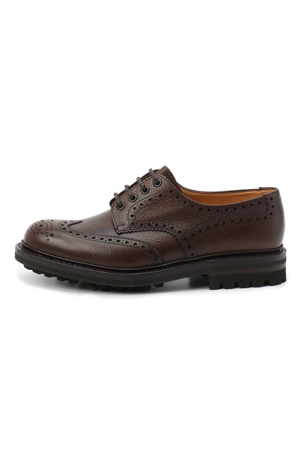 Мужские кожаные дерби CHURCH'S коричневого цвета, арт. EEC301/9FQ | Фото 3 (Мужское Кросс-КТ: Броги-обувь; Материал внутренний: Натуральная кожа; Стили: Классический)