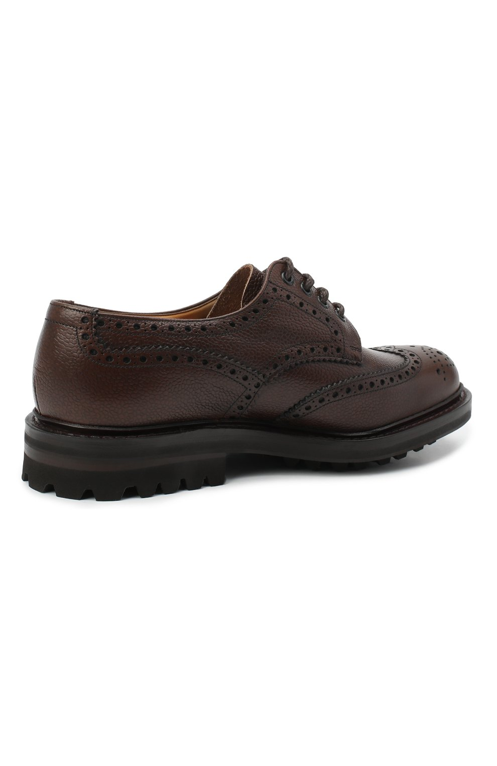 Мужские кожаные дерби CHURCH'S коричневого цвета, арт. EEC301/9FQ | Фото 4 (Мужское Кросс-КТ: Броги-обувь; Материал внутренний: Натуральная кожа; Стили: Классический)