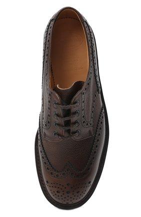Мужские кожаные дерби CHURCH'S коричневого цвета, арт. EEC301/9FQ | Фото 5 (Мужское Кросс-КТ: Броги-обувь; Материал внутренний: Натуральная кожа; Стили: Классический)