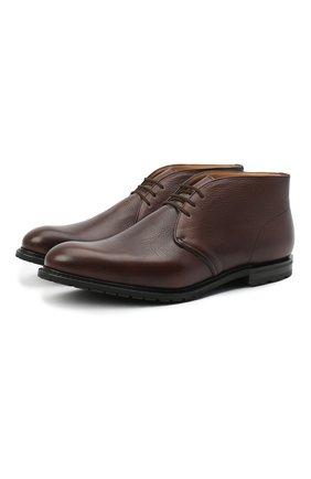 Мужские кожаные ботинки CHURCH'S коричневого цвета, арт. ETC197/9AF0 | Фото 1